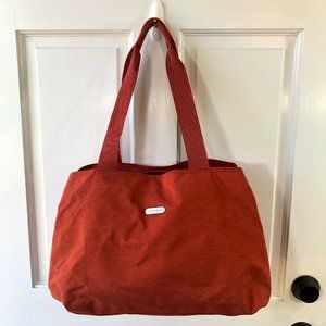 CHICOS TRAVELERS Red Multi Pockets Travel Gym Tote